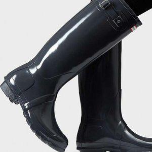 Hunter Gloss Dark Slate Charcoal Tour Tall Boots
